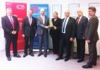 v.l.: Herr Stolle, Herr Dr. Voß, Herr John, Frau Gleicke, Herr Bechtold, Herr Lamprecht, Herr Hartung   Foto: Bradler